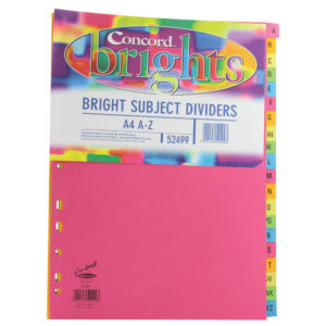 CONCORD BRIGHT DIVIDERS A4 A-Z ASST