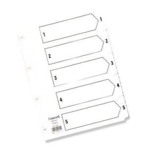 CONCORD INDEX 1-5 A5 WHITE CS70