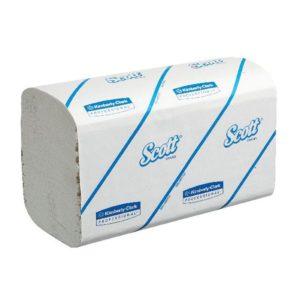 SCOTT PERFORM HAND TOWEL 1PLY WHITE PK15