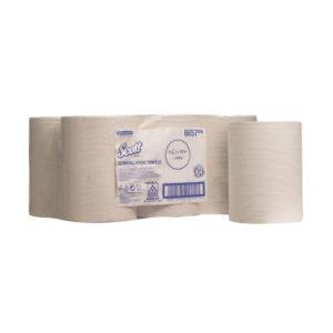 SCOTT SLIMROLL HAND TOWELS PK6 WHT 6657