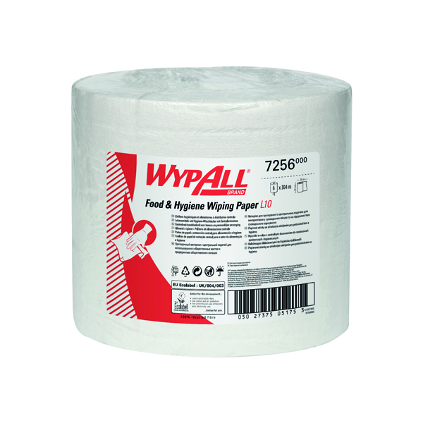 WYPALL L10 CENTREFEED WHT PK6