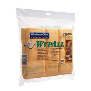 WYPALL MICROFIBRE CLOTHS YELLOW 8394 PK6