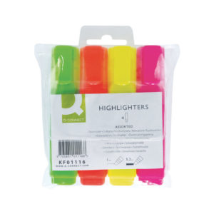 Q CONNECT HIGHLIGHTER ASSORTED WALLET 4