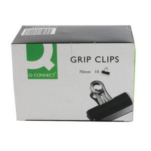 Q CONNECT GRIP CLIP 70MM PK10