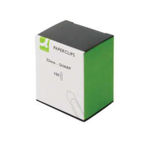 Q CONNECT PAPERCLIPS 32MM NO TEAR PK100