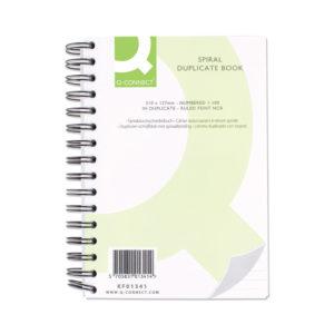 Q CONNECT WIRO BOUND DUPLICATE BOOK 8X5