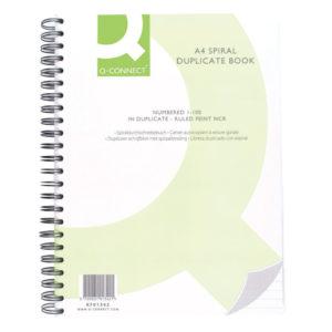 Q CONNECT WIRO BOUND DUPLICATE BOOK A4