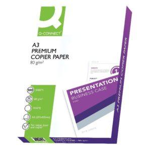 Q CONNECT PREM CPR L/PPR A3 80G WH PK500