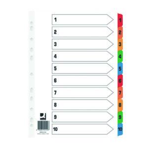 Q CONNECT INDEX 1-10 BRD MULTI PK25