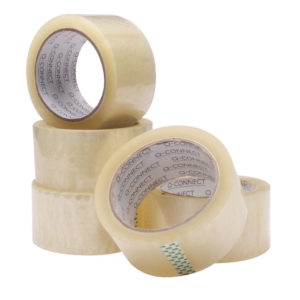 Q CONNECT PACKAGING TAPE CLEAR 50X66