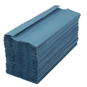 2WORK CFOLD HAND TOWELS 1PLY BLUE PK2880