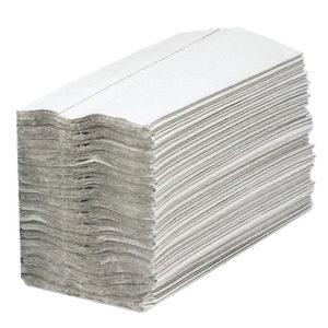 2WORK CFOLD HND TOWELS 1PLY WHITE PK2880