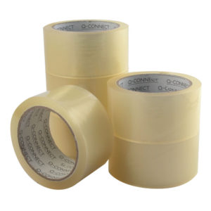 QCONNECT PACKAGING TAPE LOW NOISE CLEAR