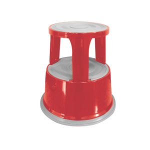 QCONNECT METAL STEP STOOL RED