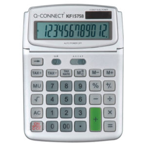 QCONNECT LARGE TABLE TOP 12DIG CALC GREY