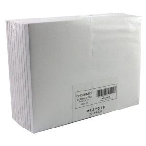 Q CONNECT SCRIBBLE PAD 148X105 80LF PLN