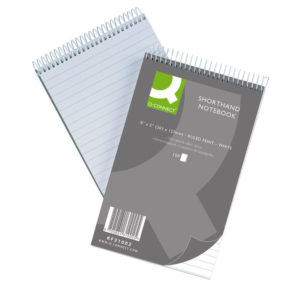 Q-CONNECT SHORTHAND NOTEBOOK 150LF