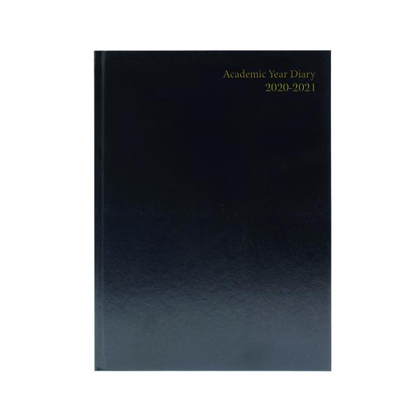 ACADEMIC DIARY WTV A4 BLACK 2020-21