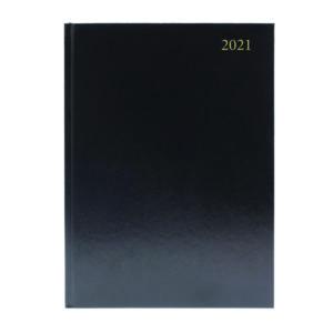DESK DIARY DPP APPTS A4 BLACK 2021