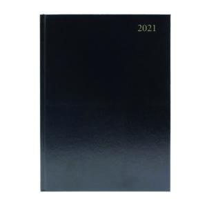 DESK DIARY WEEK VIEW A4 BLACK 2021