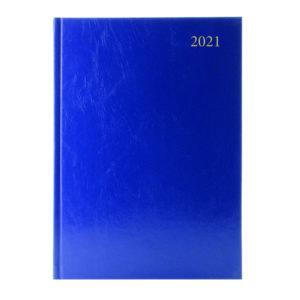 DESK DIARY WEEK VIEW A4 BLUE 2021
