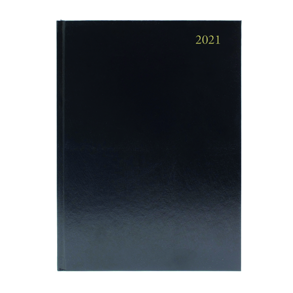 DESK DIARY WEEK VIEW A5 BLACK 2021