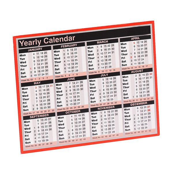 YEAR TO VIEW CALENDAR 2021