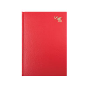 LETTS 31X RED A5 WEEK TO VIEW DIARY 2020