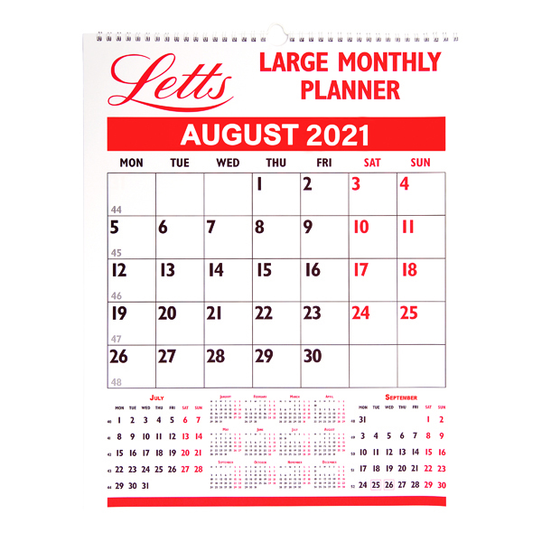 LETTS MONTHLY PLANNER LARGE 2021