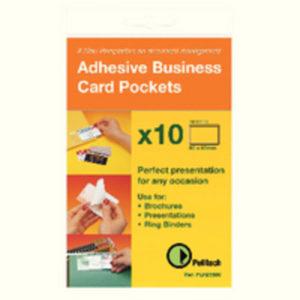 PELLTECH BUS CARD PCKT S/ADH 95X60 PK100