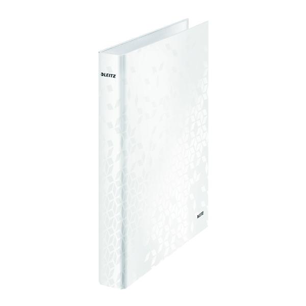 LEITZ WOW RING BINDER A4 WHITE PK10