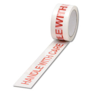 TAPE HANDLE WITH CARE PP WH/RED 50M