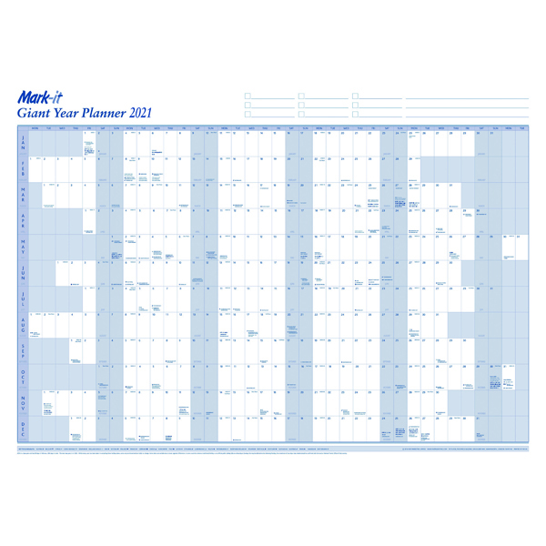 MARK-IT GIANT YEAR PLANNER 2021