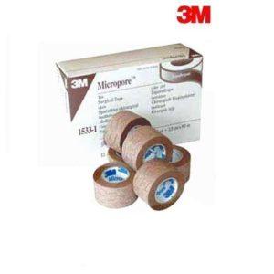 Micropore Tan Tape 2.5cm x 9.1m x 12