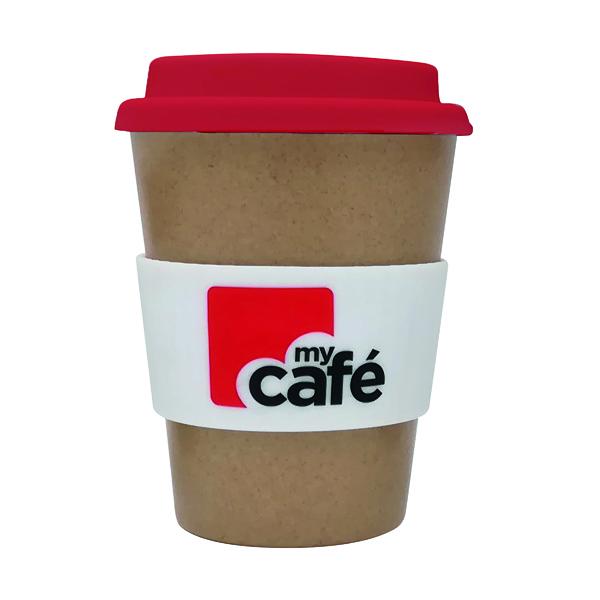 MYCAFE REUSEABLE BAMBOO CUP 350ML