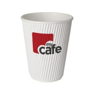 MYCAFE 8OZ RIPPLE WALL HOT CUPS PK500