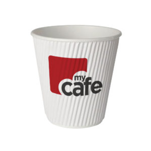 MYCAFE 12OZ RIPPLE WALL HOT CUPS PK500