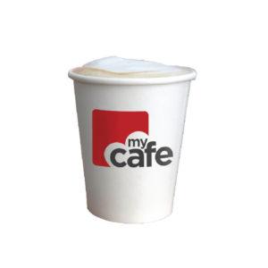 MYCAFE 12OZ SINGLE WALL HOT CUPS PK50