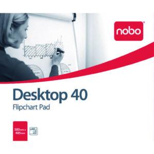 NOBO FLIPCHART PAD PLAIN 580X480 40SHEET