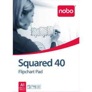 NOBO A1 SQUARED FLIPCHART PAD PK5