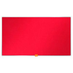 NOBO NOTICE BOARD 31 INCH FELT RED