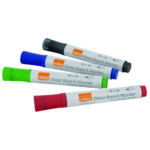 GLASS WHITEBOARD MARKERS ASSORTED 4