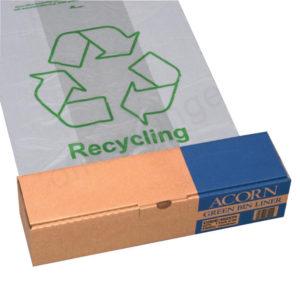 ACORN GREEN BIN LINER CLEAR/PRINTED PK50