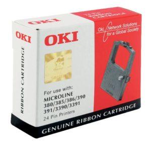 OKI FABRIC RIBBON BLACK          390/391