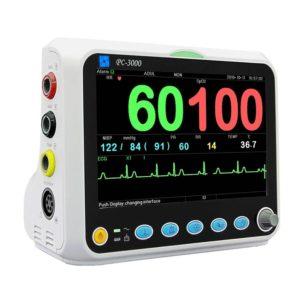 Vital Signs Monitor (Nellcor OxiMax) SpO2, PR, NIBP, Temp & ECG - Adult Clip Sensor