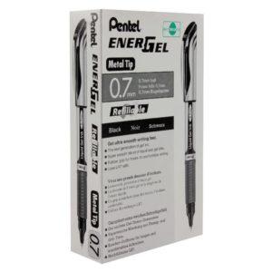 PENTEL ENERGEL XM METAL TIP RBALL BLACK
