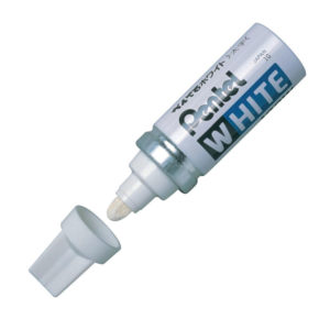 PENTEL VALVE MARKER BULLET WHITE X100W