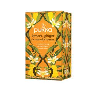 PUKKA LEMON GINGER AND MANUKA TEA PK20