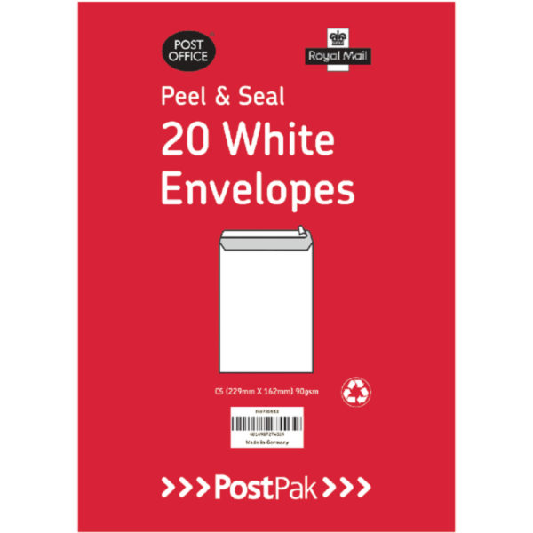 C5 PEELSEAL WHITE 90G X20 PK10 101-0219