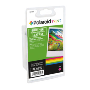 POLAROID BROTHER LC123M REMAN INK MAGENT